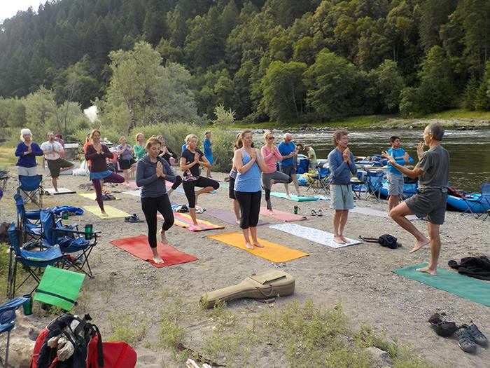 rogue rafting yoga