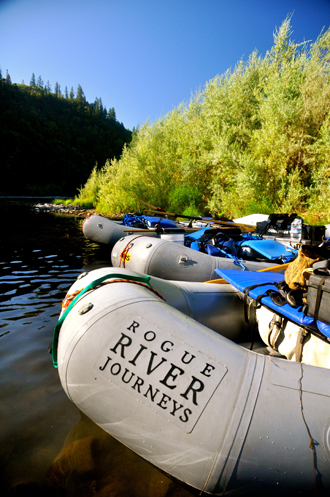 Rogue River Journeys Equipment used on Rogue River trips